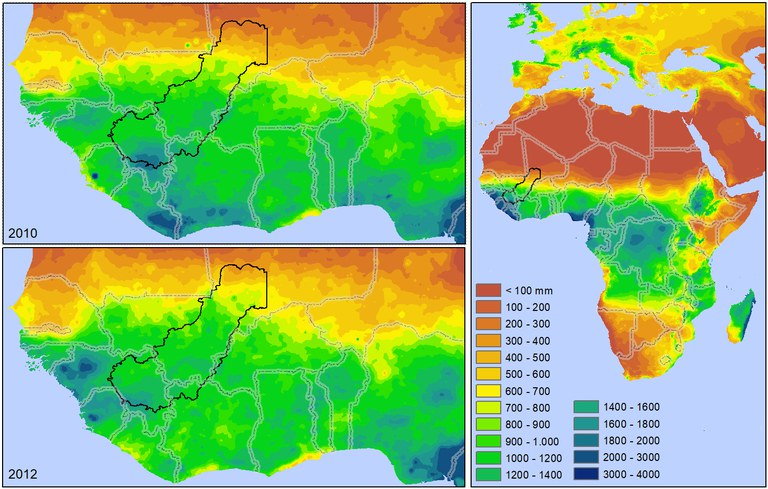 Global rainfall pattern Africa